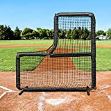 Fortress 7' x 7' L-Screen Frame & Net [Nimitz Edition] - Premium Protection for Pitchers & Coaches - Baseball Protector Screen