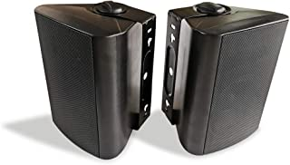 Herdio 5.25 Inches 200 Watts Indoor Outdoor Patio Bluetooth Speakers with Superior Dome Tweeter All Weather Wired Wall Mount System