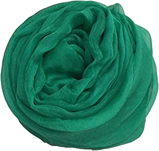 Green Polyester Scarf Female Beach Towel Cloak Shawl Scarves Sunscreen,Perfect Accent to Any Outfit (Color : Green, Size : 145 * 180CM)