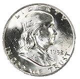 1952 D Silver Franklin Half Dollar 50c Brilliant Uncirculated
