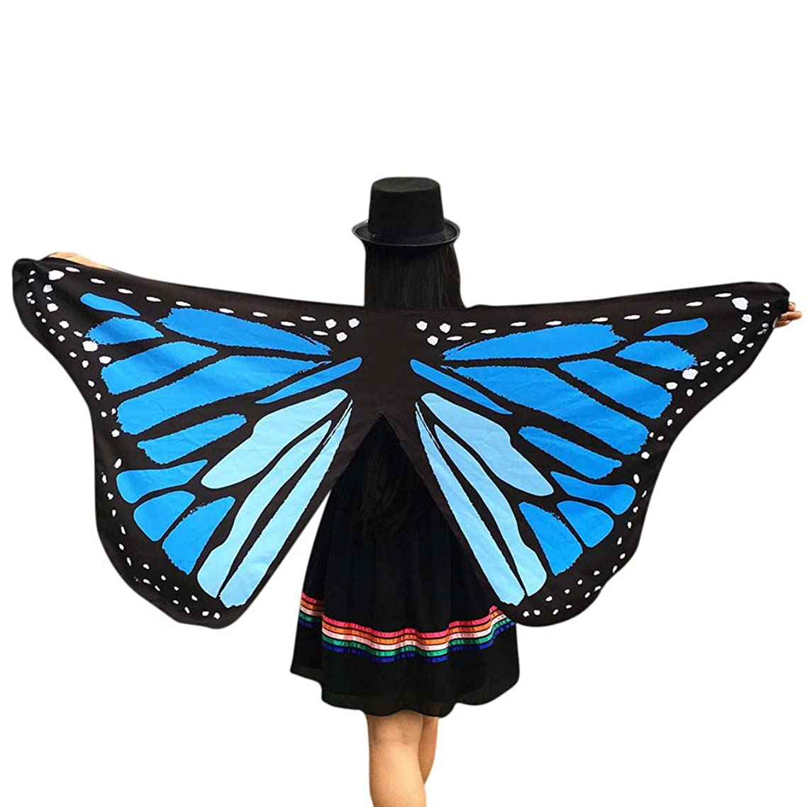 Tootu Soft Fabric Butterfly Wings Fairy Ladies Nymph Pixie Costume Accessory