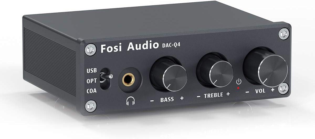Same day shipping Fosi Audio Q4 - Mini Stereo DAC Amplifier 24 Gaming Max 66% OFF Headphone