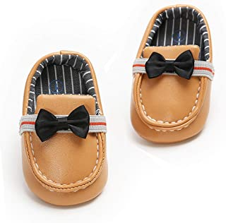 afaf803d935e5 SOFMUO Baby Boys Girls Slip On Loafers Soft Sole Infant Moccasins Toddler  First Birthday Dress Shoes