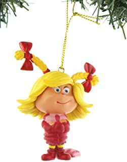 Dr Seuss The Grinch Who Stole Christmas Cindy Lou Who Kurt Adler Christmas Holiday Ornament with Gift Box (One Size, Cindy Lou Who)