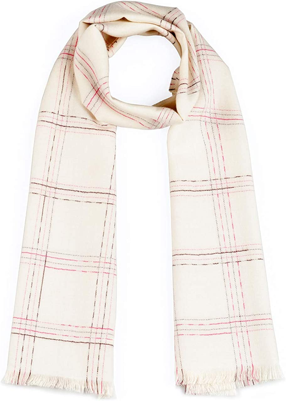 Inca Fashions - Plaid Extra Wide Handwoven Oversized Scarf | Pure Baby Royal Alpaca Wool