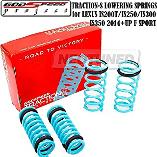 Godspeed(LS-TS-LS-0010) Traction-S Performance Lowering Springs For Lexus IS200T/IS250/IS300/IS350 2014+UP F Sport gsp set kit