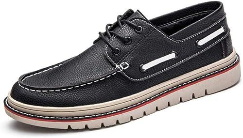 LYZGF Hommes Jeunes Saisons Affaires Loisirs Mode Dentelle Chaussures en Cuir