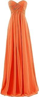 CladiyaDress Women Strapless Chiffon Long Bridesmaid Dress Evening Gown D145LF