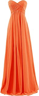 TalinaDress Chiffon Long Sweetheart Bridesmaid Dresses Prom Gowns E145LF