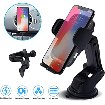 Qi 15W Fast Charging Auto Clamping Car Mount Windshield Dashboard Air Vent Mobile Phone Holder MAYTON Wireless Car Charger MC-15