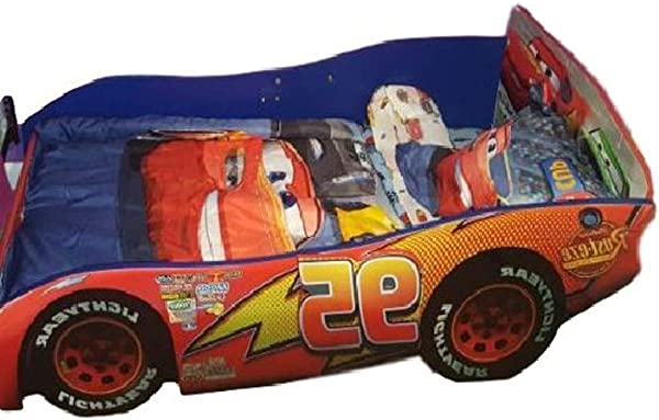 GT Car Toddler Bed Frame Bedding Race Car Boys Racing Toddler Bedroom Indoor Slepping Furniture E Book By Easy2Find