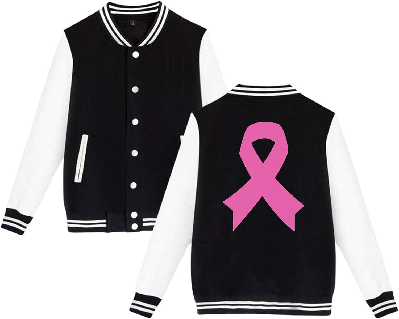 SWITW94 Breast famous Cancer Awareness Men's Back Print Jacket San Jose Mall Basebal