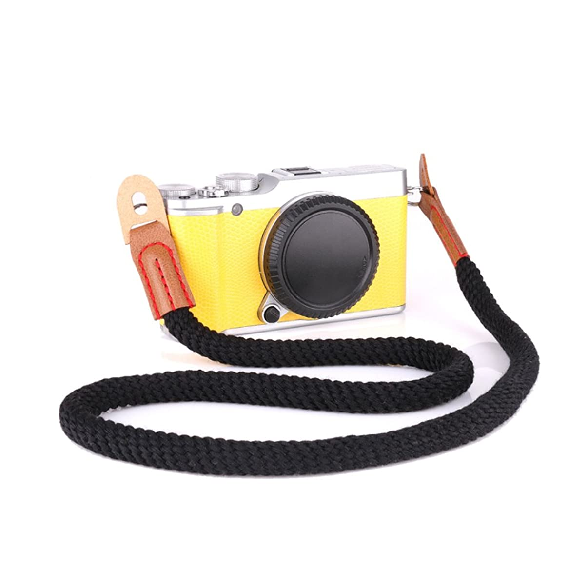 LXH Cotton Camera Wrist Strap, Soft Cotton with Leather Camera Shoulder Neck Strap,DSLR SLR universal shoulder strap suitable for Nikon, Canon, Sony, Olympus, Fujifilm, Samsung and Pentax 29.4inch