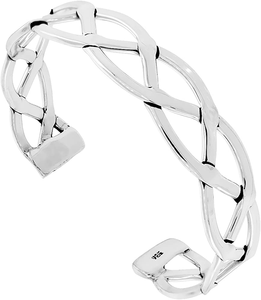 Sterling Silver Sailors Knot Cuff inch Bracelet Handmade 7.25 Branded goods Super beauty product restock quality top