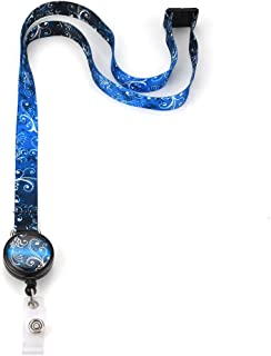 Grekywin Starry Sky Lanyard Keychain Neck lanyards, ID Badge Holder