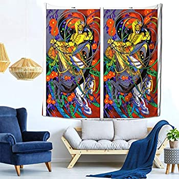 Houtiff Anime & Final & Love and Mystery Tarots by Yoshitaka Amano VII The Ch Art Tapestry Handicraft Party Decoration Banner Garland Event Banner and Home Decoration Green
