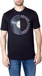 A|X Armani Exchange Men's Cotton Jersey Split Record Print T-Shirt