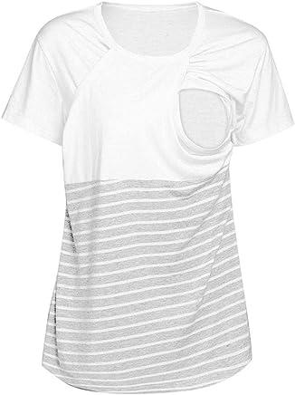 c1eb14f4125 FAPIZI Clearance Women Pregnant Maternity Nursing Stripe Breastfeeding Tops  T-Shirt Blouse