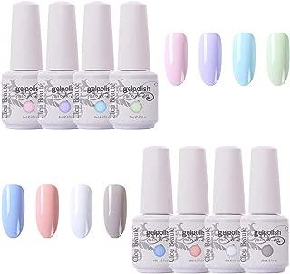Clou Beaute 8ml Gel Nail Polish Set Soak Off UV LED Nail Gel Polish Art Varnish Gift Box Set Pack of 8 Colors Set816