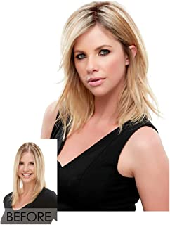 Top Notch Mid Length Clip In Hair Topper Crown Jon Renau Womens Double Monofilament Top Addition Easihair Color FS26/31S6