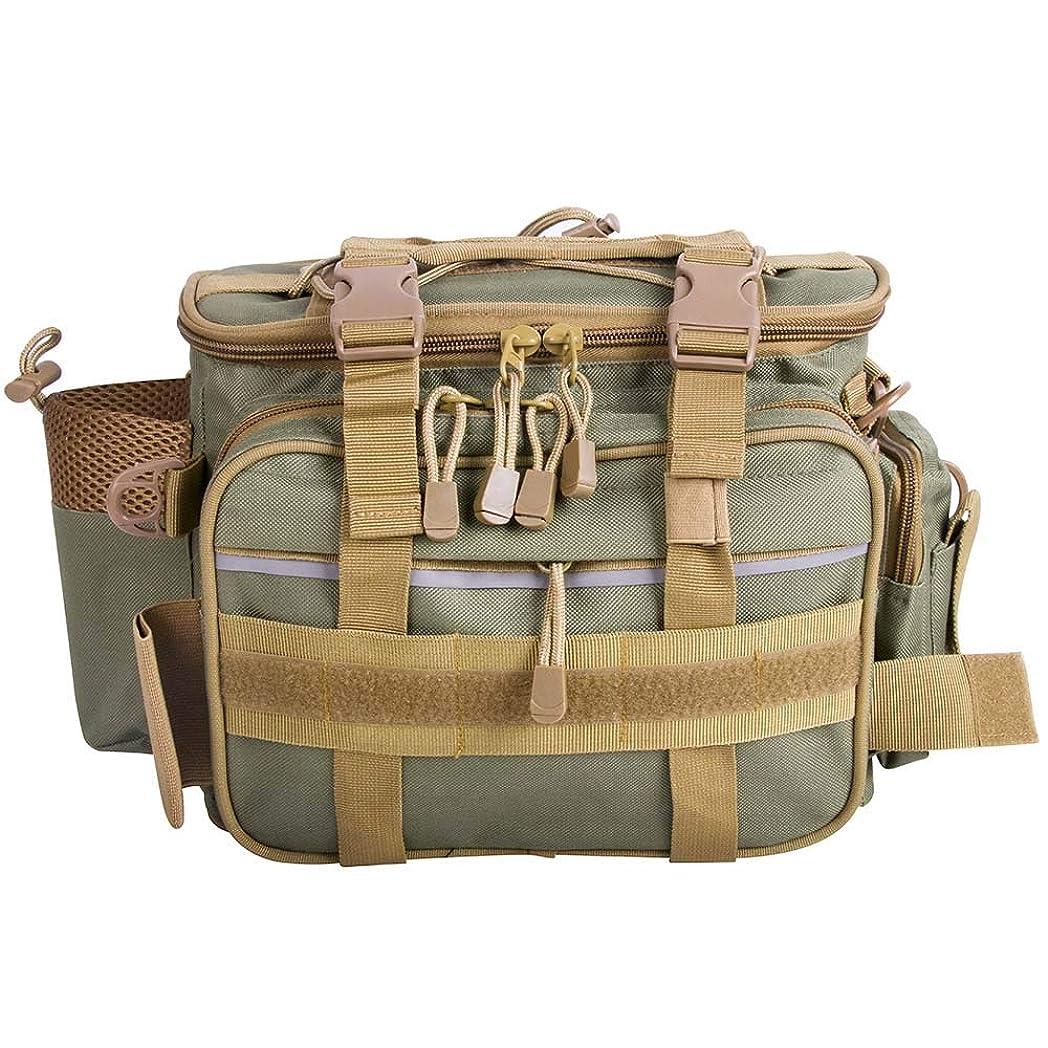 促す称賛傾いたDr.Fish フィッシングバッグ ワンショルダー ウエストバッグ 釣り タックルバッグ 耐水性 900Dナイロン
