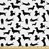 Ambesonne Dog Lover Fabric by The Yard,...
