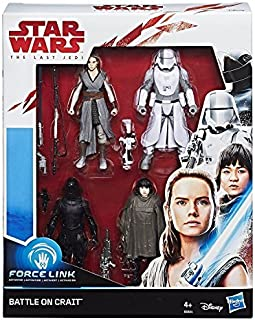 Star Wars Force Link Battle on Crait Figura de 3.75 Pulgadas, Paquete de 4