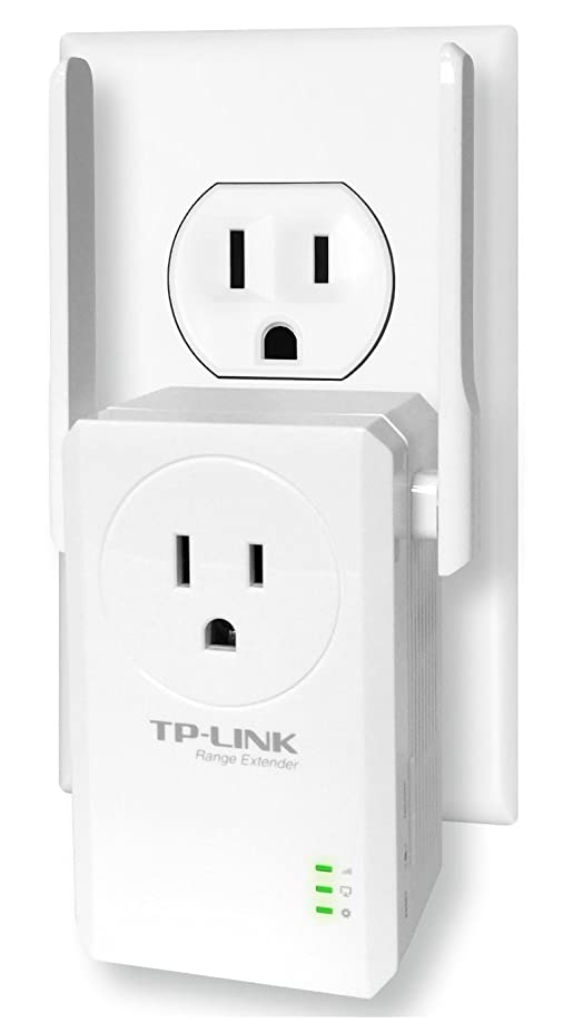 TP-Link N300 Wi-Fi Range Extender with Pass-Through Outlet (TL-WA860RE)