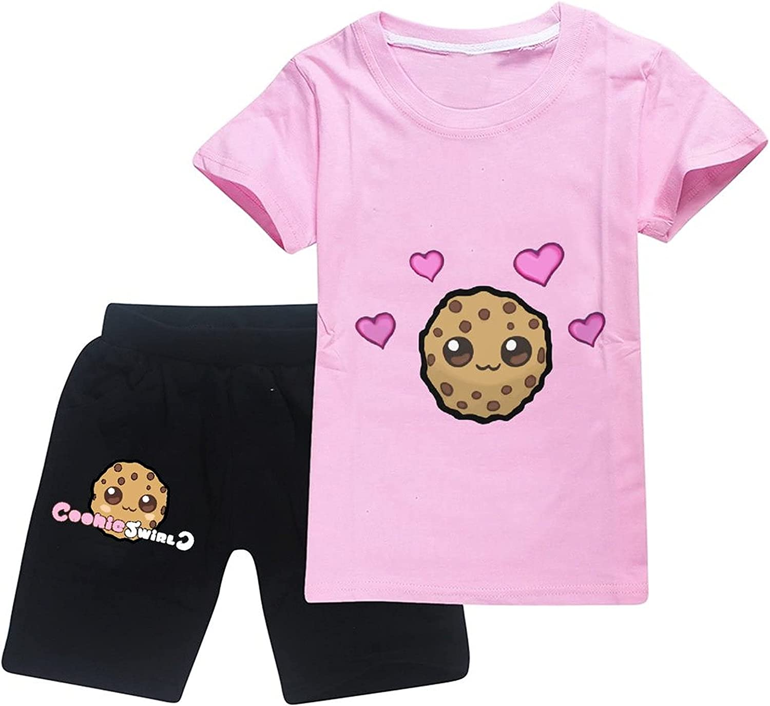 Cookie Swirl C Toddler Boy Cotton Summer Short Sleeve T-Shirt and Shorts Outfit Set