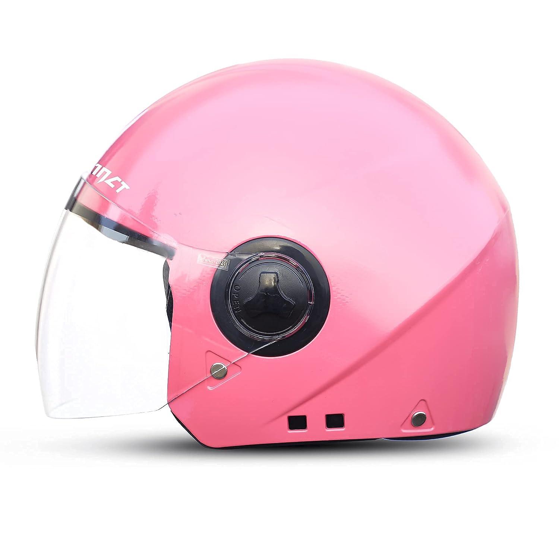 GoMechanic- Instinct Series- Delta, Open Face Helmet with Clear Visor Motorbike Helmet, Helmet for Women- Medium (580MM)