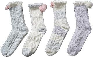 Las Mujeres Super Suave Felpa del calcetín del Deslizador, Invierno mullidas Calcetines Calientes Casual Inicio Dormir Fuzzy Sock Acogedor Calcetines de Invierno (Color : Multicolor 08)