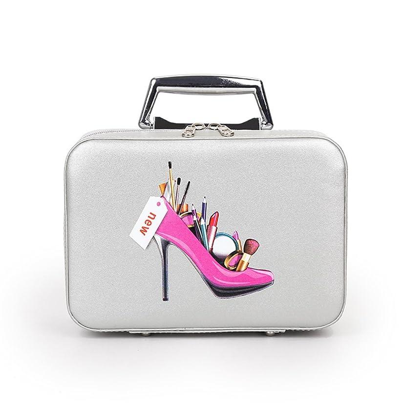 詩人通り抜けるすき女性のメイクアップバッグ小さなポータブル化粧ケースネイルブラシオーガナイザーストレージPUレザーボックス旅行用