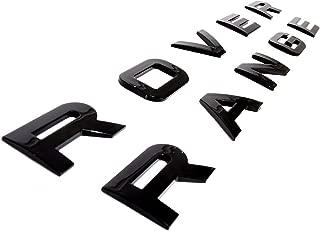 Glossy Black Range Lettering For Front Bonnet/Rear Boot Lid Badge Emblem For Evoque, Discovery, Freelander, SVR, HSE, Sport Models Size 475mm 30mm