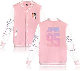 Aopostall Kpop BTS Love Yourself Baseball Jacket Uniform Jung Kook J Hope V Suga Jin Jimin Rap Monster Unisex Sweatshirt Sweater Coat