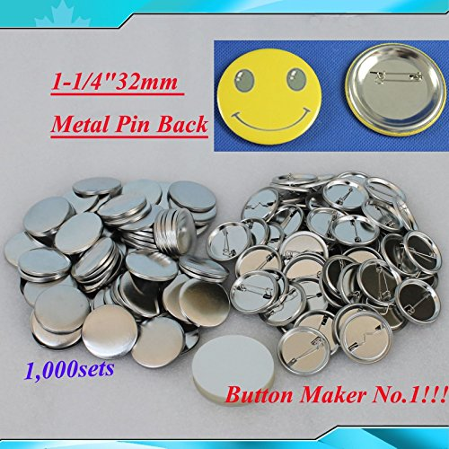 "1,000sets 1-1/4""32mm Metal Pin for Button Machine Badge Button Parts BIG Sale!!!"