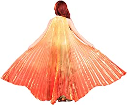 Wuchieal Women's Belly Dance Costume Isis Wings, Professional Dance Wings with Sticks