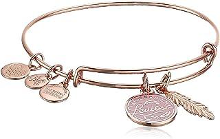 Alex and Ani Harry Potter Duo Bangle Bracelet Rose Gold/Leviosa One Size, Shiny Rose Gold (AS20EBHP01SR)