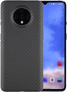 防水防塵 OnePlus 7Tのアラミドファイバーケースの実際の炭素繊維の携帯電話のケースフィットOnePlus 7T Pro携帯電話ケース液体のための耐降下携帯用保護カバーシェルフィット (Color : Black, Size : Fit ...