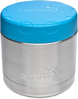 LunchBots 16oz Thermal Stainless Steel Wide Mouth Thermos - Insulated Container with Lid Keeps Food Hot or Cold for Hours - Leak-Proof Portable Thermal Food Jar is Ideal for Soup - 16 ounce - Aqua