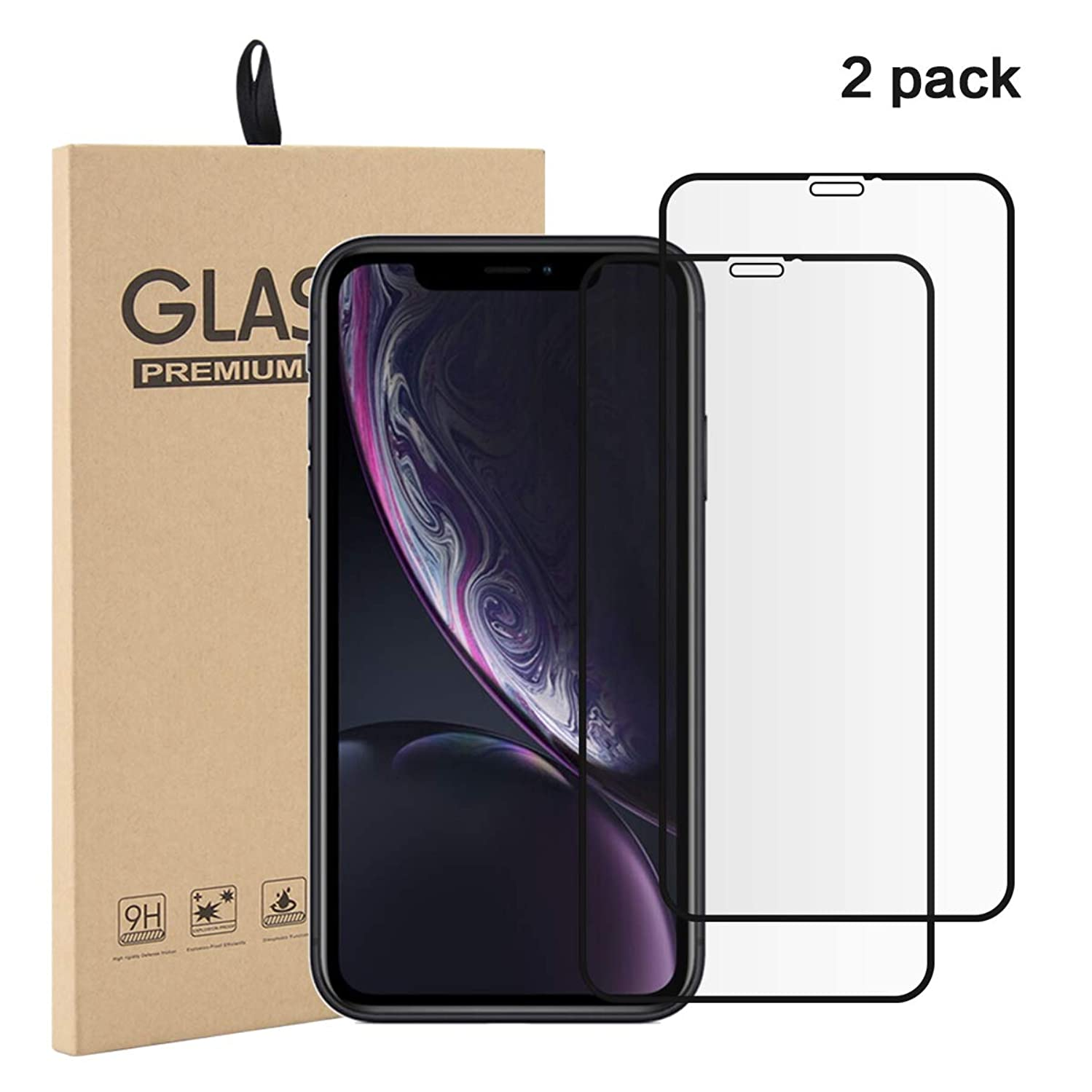 Torubia iPhone Xr Tempered Glass Screen Protector Ultra-Thin Effective Protection As Shown