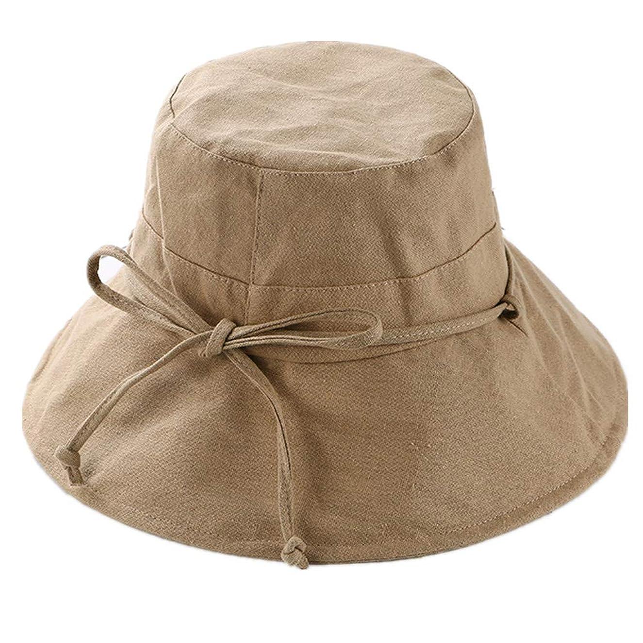 階層後方に急勾配のUVカット 帽子 レディース 日よけ 帽子 レディース つば広 ハット日よけ 折りたたみ 軽量 無地 洗える 紫外線対策 ハット カジュアル 旅行用 日よけ 夏季 女優帽 小顔効果抜群