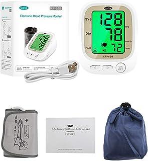 KF-65B Cofoe Digital Electronic Blood Pressure Monitor Arm Blood Pressure Monitor with Voice broadcast, Tricolor Backlight...