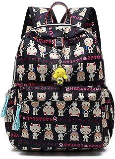 Harajuku Lovers Series Backpack,Nylon Waterproof Mini Bookbag for Girls/Boys