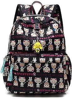 Harajuku Lovers Series Kid's Backpack,Nylon Waterproof Mini Bookbag for Girls/Boys School Bag