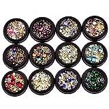 Nailart 3D Nagel Art Diamonds Strassstein Bunte Glitter Strass UV Gel Acryl Glitter Eye Kristall...