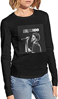 J. Cole 2014 Forest Hills Drive Classic Womens Long Sleeve Cotton Tshirts £¨ Black £