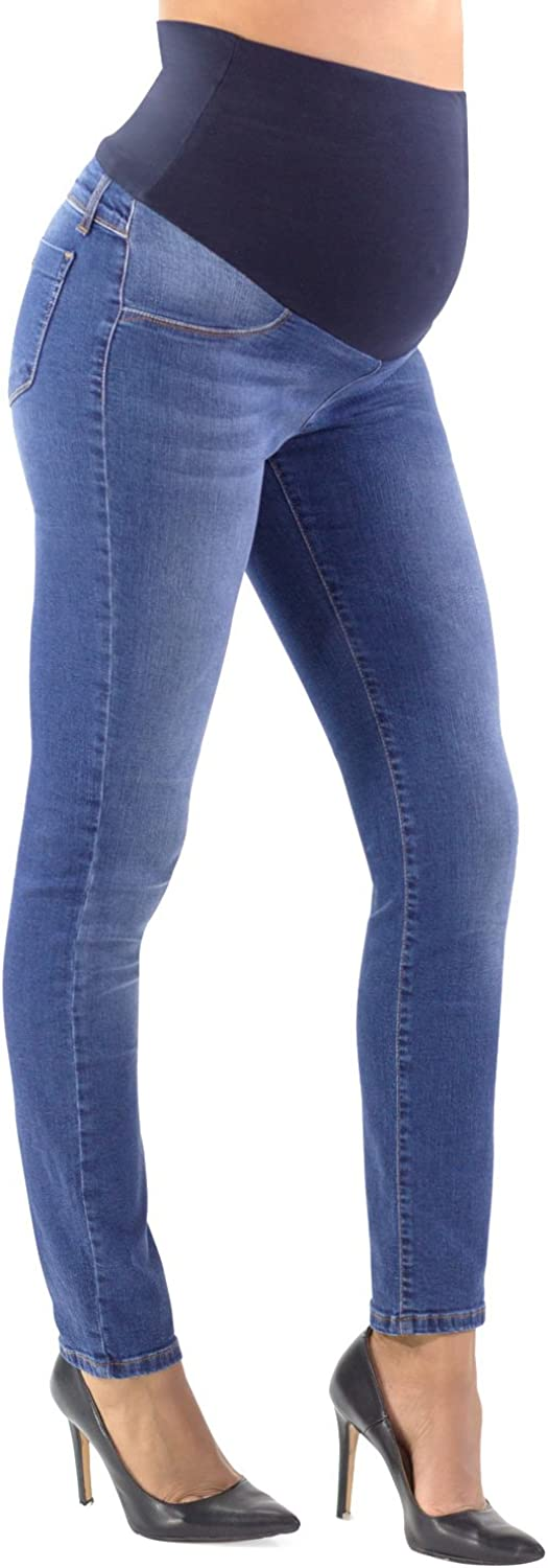 MAMAJEANS Roma Maternity Jeans Skinny, Power Stretch  Made in