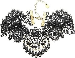 Collar de Encaje Negro Gargantilla Colgante Vintage Gótico Lolita Collar Steampunk