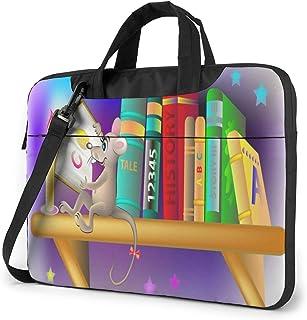 "Funny Rat Reading Book Laptop Bag Protective Case Computer Messenger Briefcase Women Men 13"""