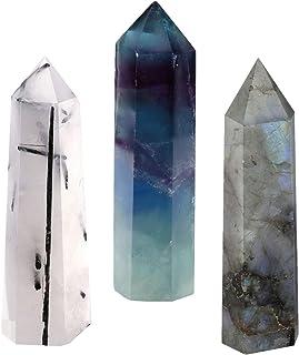 CrystalTears Pierre Quartz Cristal de Roche Blanc Clair Tumbled Naturelle Pointue Prisme Thérapeutiques Guérison Energie (...